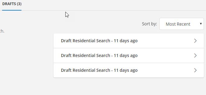 Flexmls draft search screenshot