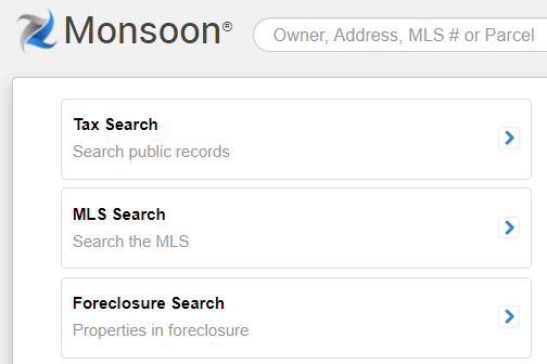 screenshoScrennshot of Monsoon search fields