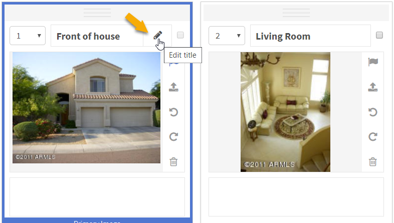 screenshot of adding photos in Flexmls