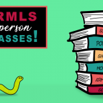 Cartoon image showing ARMLS class textbooks