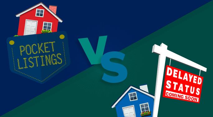 pocket listings vs delayed listings - armls