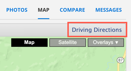 "Screenshot of the word ""driving directions"" with the red rectangle around it"