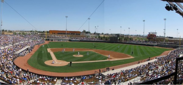 Photo of Cactus League Spring Training crowd
